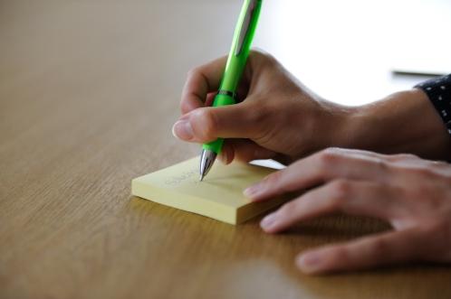 Notiz Schreibtisch in Prüm
